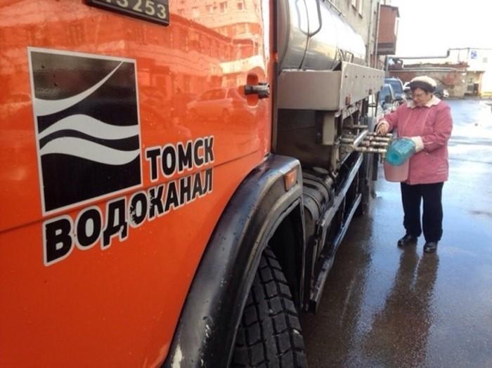 Отключение воды в Томске