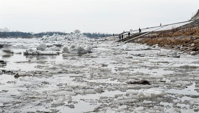 Где находится голова ледохода на реке Обь