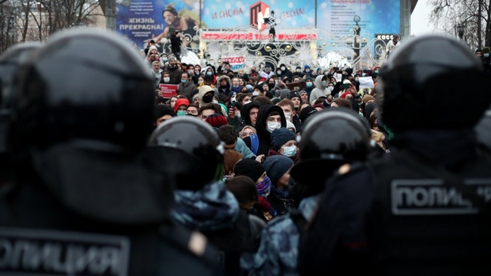 Демонстрация в Москве 1 мая