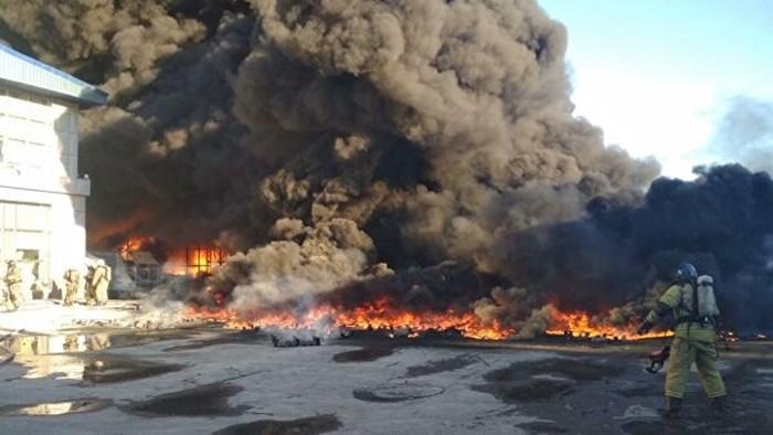 пожар в тюмени сейчас